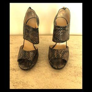 Jimmy Choo Faux Snakeskin 4 inch Heels